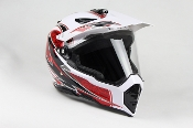 ADULT OFF-ROAD HELMET W128-WHITE WITH FACE SHIELD