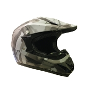 YOUTH OFF-ROAD HELMET W121-ARMY/BLACK MATTE