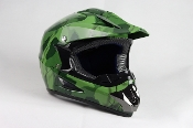 YOUTH OFF-ROAD HELMET W121-ARMY/GREEN