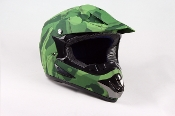 YOUTH OFF-ROAD HELMET W121-ARMY/GREEN MATTE