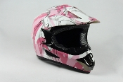 YOUTH OFF-ROAD HELMET W121-ARMY/PINK