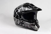YOUTH OFF-ROAD HELMET W121-SPIDER/BLACK