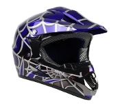 YOUTH OFF-ROAD HELMET W121-SPIDER/BLUE