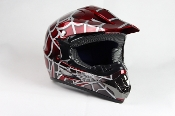 YOUTH OFF-ROAD HELMET W121-SPIDER/RED