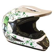 YOUTH OFF-ROAD HELMET  W121-WHITE/BUTTERFLY