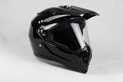 ADULT OFF-ROAD HELMET W128-BLACK WITH FACE SHIELD