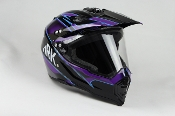 ADULT OFF-ROAD HELMET W128-BLUE WITH FACE SHIELD